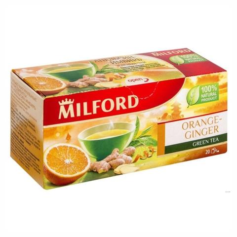 Чай MILFORD Зеленый Апельсин Имбирь 20*1,75 г ГЕРМАНИЯ