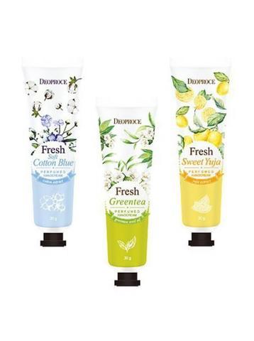 Deoproce Perfumed Hand Cream Парфюмированный крем для рук с экстрактом лимона;с экстрактом хлопка;с экстрактом грейпфрута;с экстрактом зеленого чая