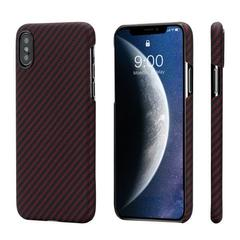 Чехол Pitaka MagCase (арамид) для Apple iPhone Xs (Black/Red Twill)