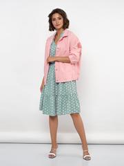 Куртка из розовой джинсы 600-5