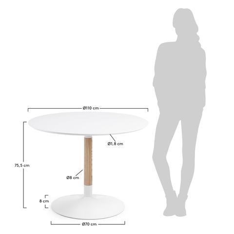 Стол Tic 110 см белый
