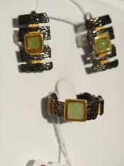 Патера (кольцо + серьги из серебра)