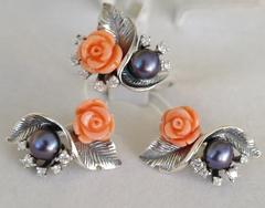 Букет (кольцо  из серебра)