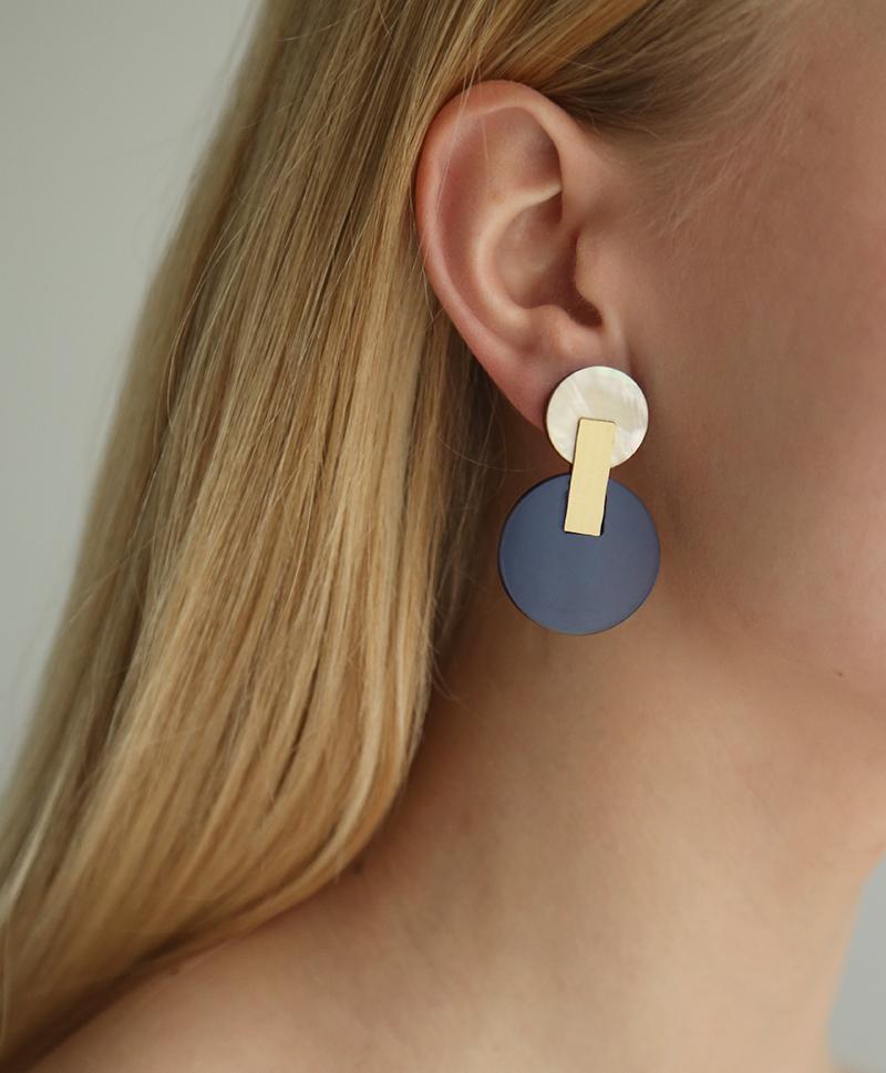 Серьги Celeste Earrings Navy