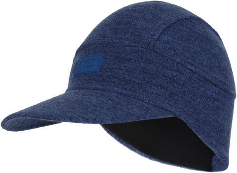 Зимняя шерстяная кепка Buff Wool Fleece Pack Cap Olympian Blue фото 1
