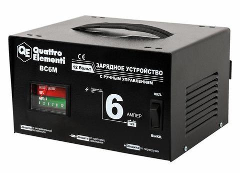 Зарядное устройство QUATTRO ELEMENTI BC  6M (12В, 6А) (770-070)