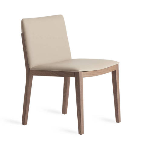 Мягкий стул кожаный коричневый CPMK109-VISON
