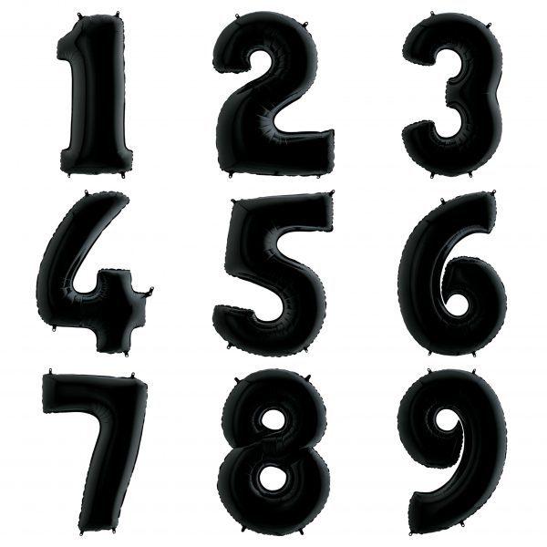 Черные цифры 102 см с гелием