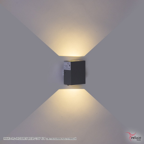 86683-9.2-002TLFS LED2*3W GY светильник настенный