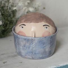 Керамическая шкатулка с крышкой 1