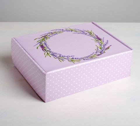 Складная коробка «Лаванда», 27×21×9см