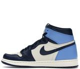 Кроссовки Nike Air Jordan 1 Retro Obsidian UNC Blue\White