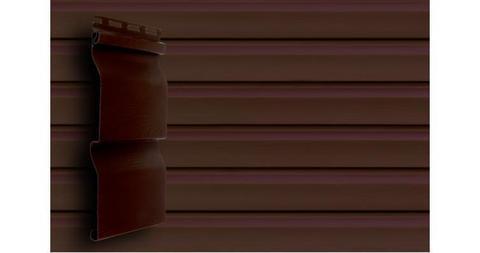 """Акриловый сайдинг Гранд Лайн корабельная доска 3.6 D 4,4"""" темный дуб"""