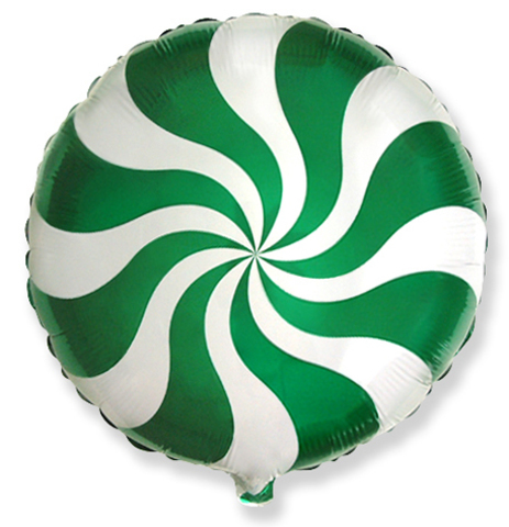 Фольгированный шар Леденец зеленый