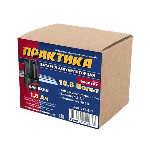 Аккумулятор для BOSCH ПРАКТИКА 10.8В, 1.5Ач,  Li-Ion, коробка (773-637)
