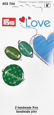 Эмблемы Handmade. Prym Love.. (зеленые) (Арт. 403744)