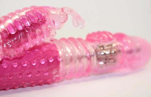 Вибратор с ротацией с функцией Бабочка Up&Down розовый