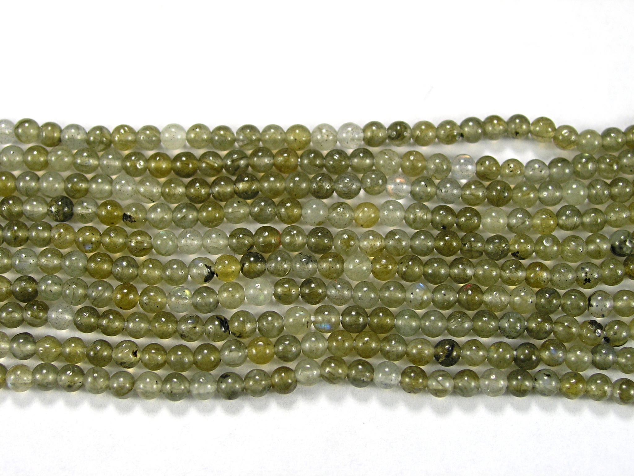 Нить Бисера из лабрадора (спектролита), шар гладкий 2мм