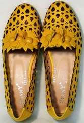 Модные летние туфли желтого цвета женские Phany 103-28 Yellow.