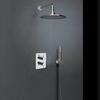 Встраиваемый термостатический смеситель для душа с душевым комплектом RS-Q K9387011 на 2 выхода - фото №1