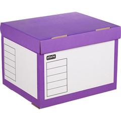 Короб архивный Attache Selection гофрокартон фиолетовый 410x350x300 мм
