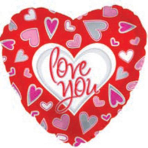 Сердце Я люблю тебя (причудливые сердца) Красный, 18