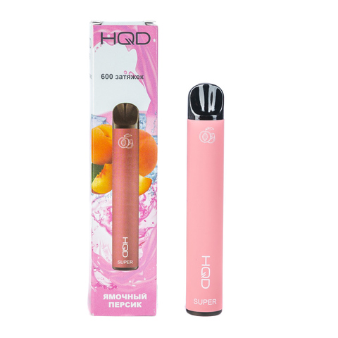 Одноразовая электронная сигарета HQD SUPER Peach (Персик)