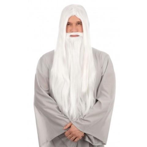 Harry Potter Bristol Novelties Wizard Wig and Long Beard (White)
