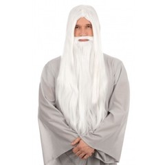 Harry Potter Bristol Novelties Wizard Wig and Long Beard (White)