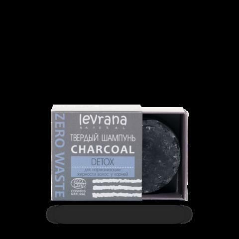 Levrana Твердый шампунь «Сharcoal детокс», 50 г ECOCERT COSMOS NATURAL