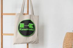 Сумка-шоппер с принтом Кавасаки (Kawasaki) бежевая 003