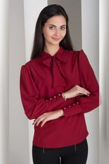 Маркіза. Красива блуза з бантом. Бордо