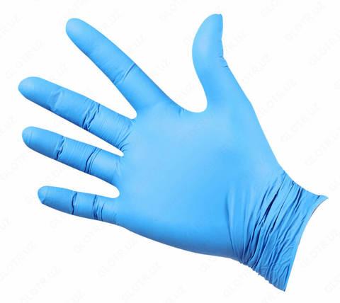 Перчатки нитриловые UNEX 100 шт, M, голубые