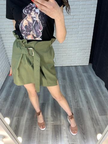 юбка с высокой талией и поясом nadya