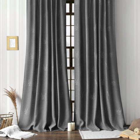 Комплект штор с подхватами Луис серый
