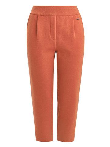 Женские брюки терракотового цвета из шерсти - фото 6