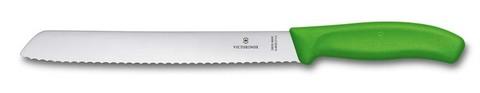 Нож для хлеба зелёный SwissClassic 21 см с волнистой кромкой VICTORINOX 6.8636.21L4B