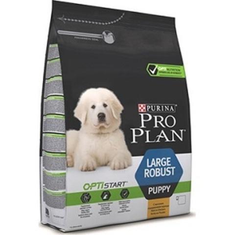 Pro Plan Optistart Puppy Large Robust сухой корм для щенков крупных пород с мощным телосложением с курицей