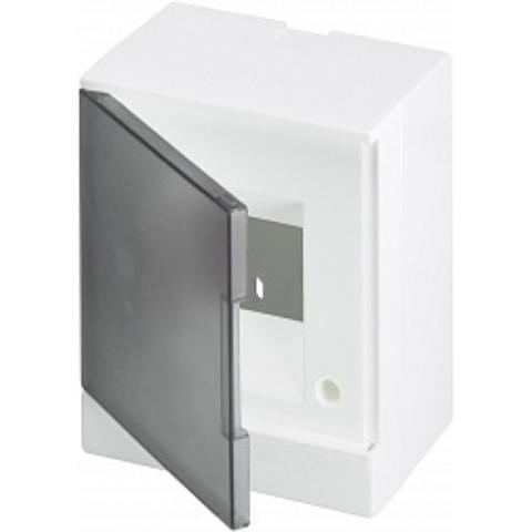 Бокс на стену Basic E 4-модуля прозрачная дверь. Цвет Белый. (с клеммами) 160mm*180mm*102mm IP40. ABB. 1SZR004002A2201