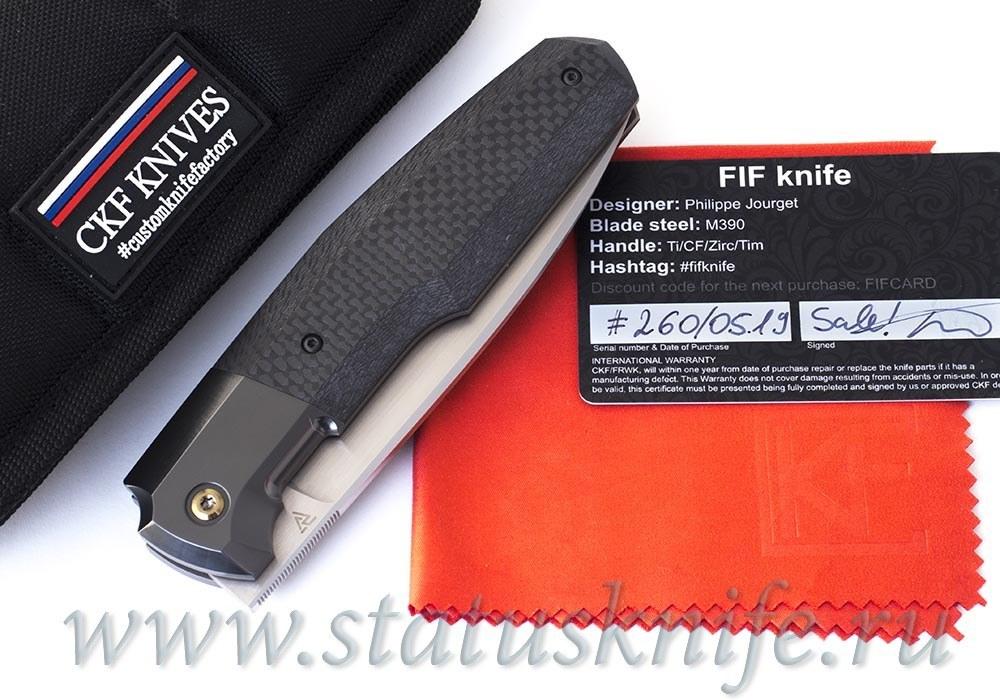 Нож CKF/Philippe Jourget FIF23 (M390, титан+цирконий+карбон, Sale Card)