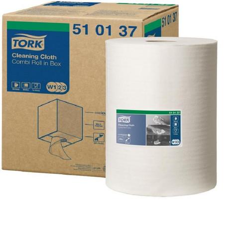 Нетканый протирочный материал Tork 510137 W1/W2/W3 белый (152 метра в рулоне)