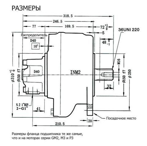 Гидромотор INM2-250