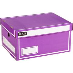 Короб архивный Attache Selection гофрокартон фиолетовый 320х240х160 мм