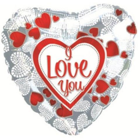 Сердце, Я люблю тебя (мозаика из сердечек), 18
