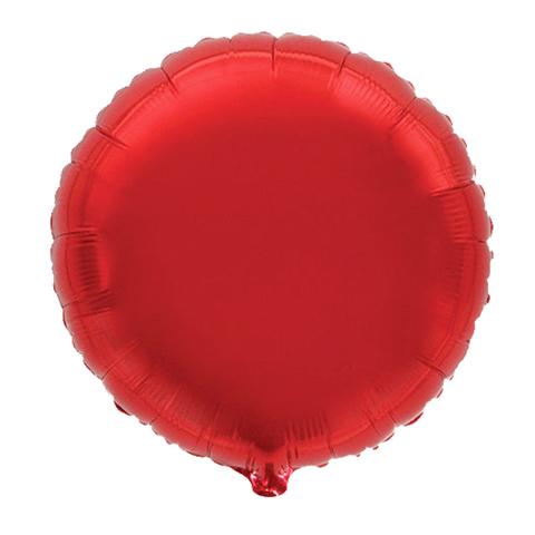 Шар-круг Красный, 45 см