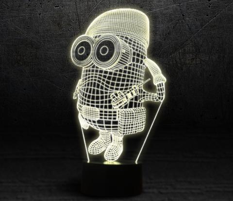 3D светильник Миньон военный — 3D light Mignon military