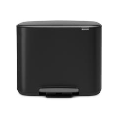 Мусорный бак Bo  (3 x 11 л), Черный матовый