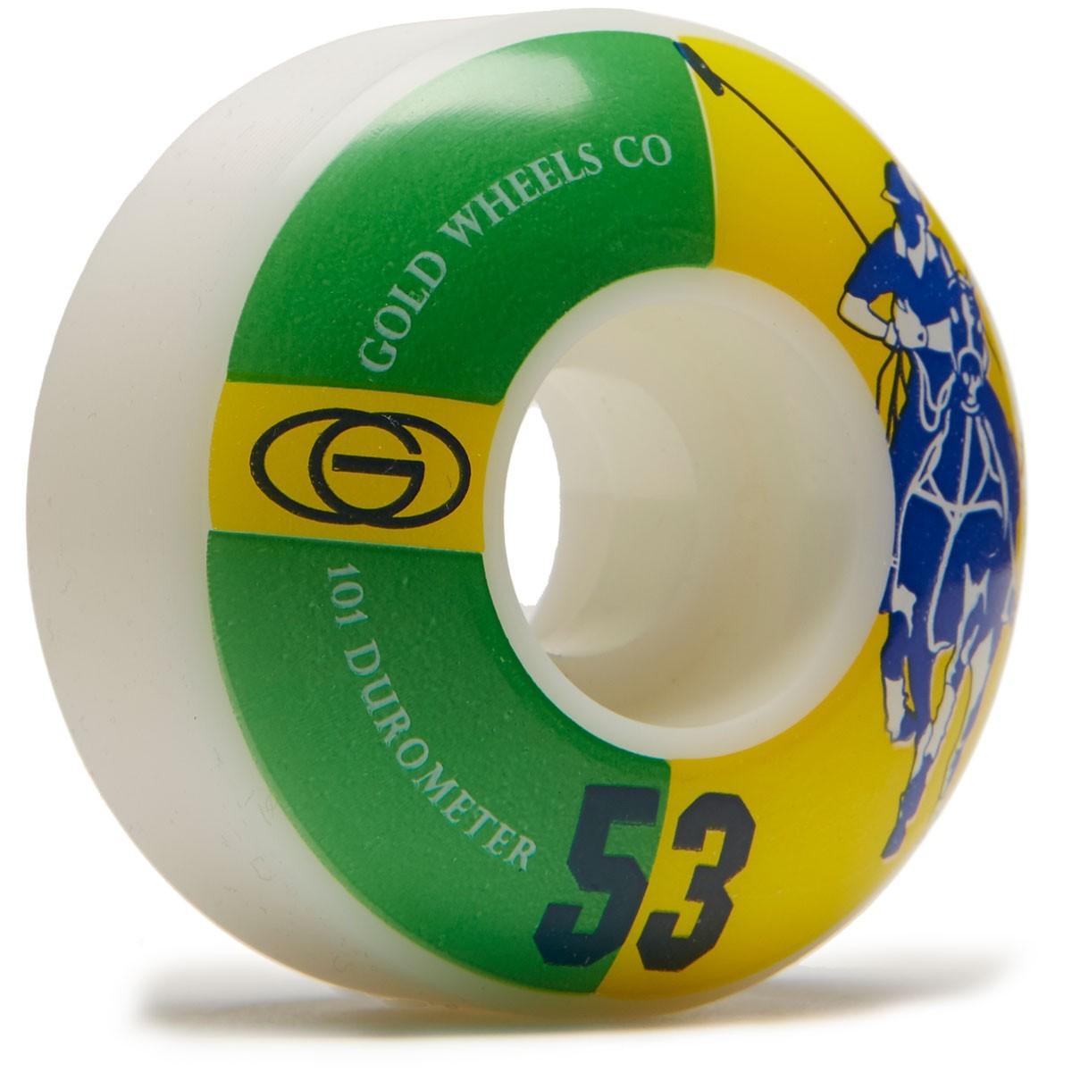 Колёса для скейтборда GOLD WHEELS Karat Club (Green/Yellow) 101A