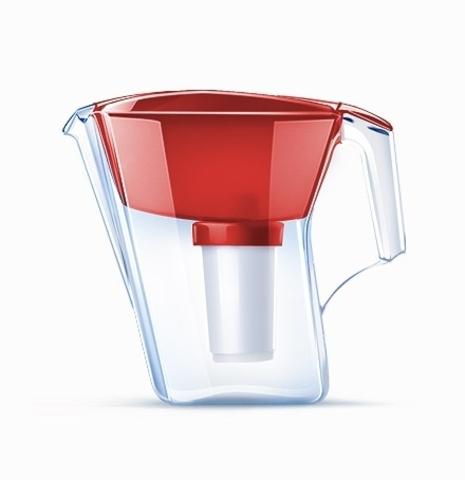Водоочиститель Кувшин модель Аквафор Арт (рубиново-красный), арт.и1428