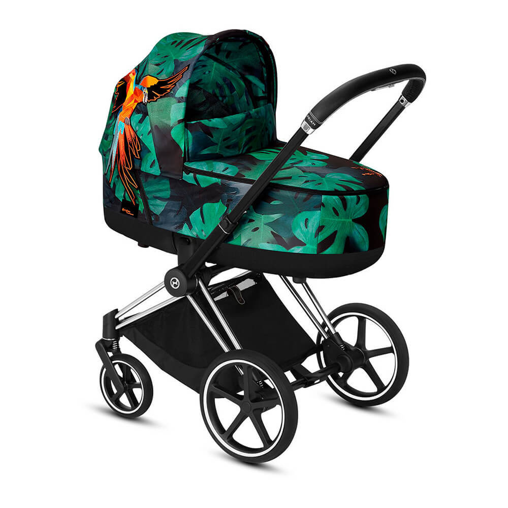 Цвета Cybex Priam для новорожденных Коляска для новорожденных Cybex Priam III FE Birds of Paradise на шасси Chrome/Black cybex-priam-iii-fe-birds-of-paradise-frame-chrome-black.jpg